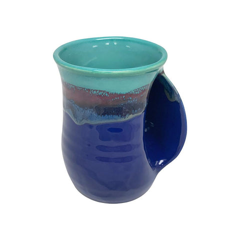 Hand-Hug Mug, Rt-Hand, Lt./Dark Blue, 14oz -NEW!