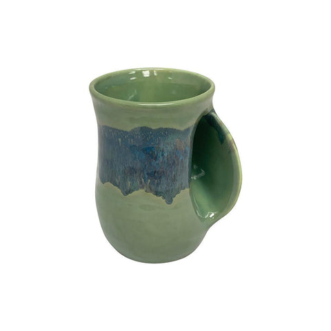 Hand-Hug Mug, Right-Hand, Grn/Blue/Grn, 14oz -NEW!