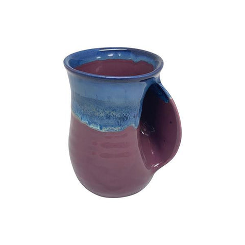 Hand-Hug Mug, Rt-Hand, Blue/Purple, 14oz -NEW!