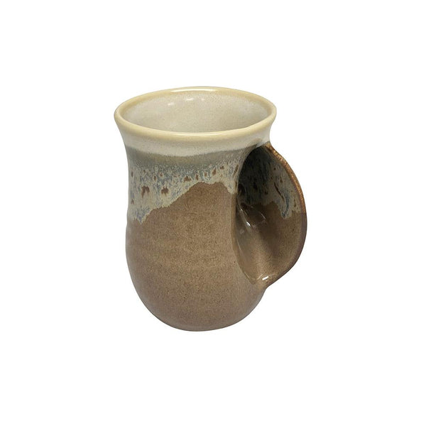 Hand-Hug Mug, Rt-Hand, Brown/Tan, 14oz