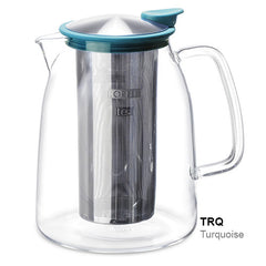 Cold-Brew Tea Maker, Glass/Stainless, 68oz