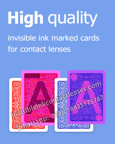 high quality invisible ink marked deck of cards for contact lenses