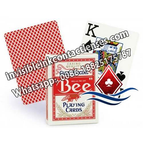 no.77 red bee marked playing cards