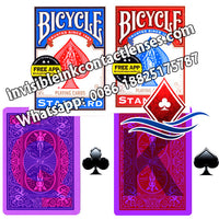 Bicycle Marked Deck of Cards with Invisible Ink Marks