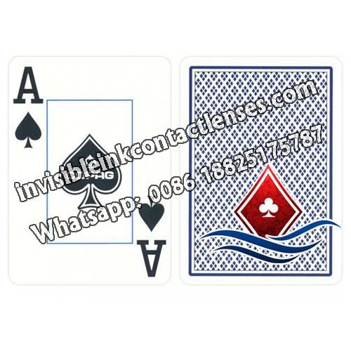 blue copag jumbo face marked deck of cards