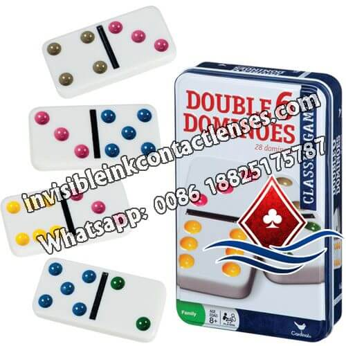 Double-6 Marked Dominoes with Luminous Ink