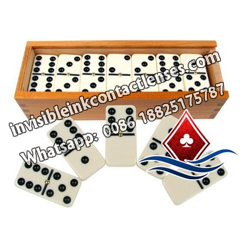 Double-6 Luminous Marked Dominoes with Wooden Case