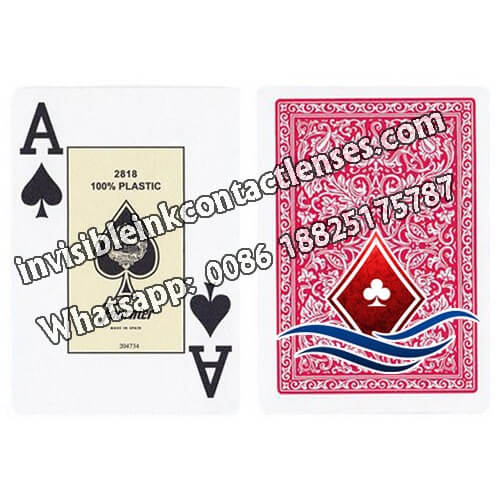 fournier 2818 red marked cards