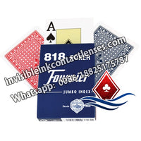 fournier 818 blue marked cards for contact lenses