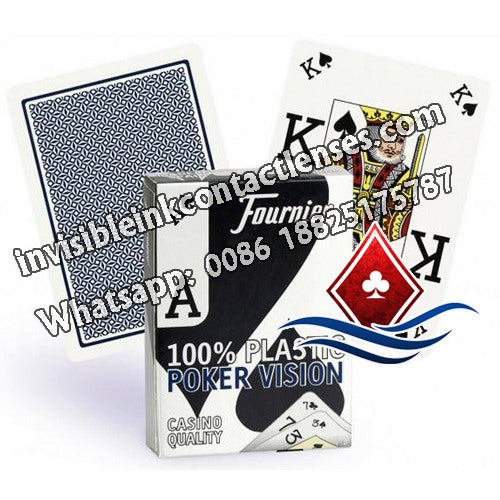 blue founier poker version invisible playing cards