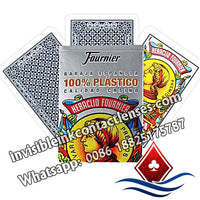 100% plastic fournier caliada casino marked cards