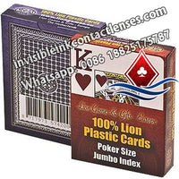Lion 100% Plastic Poker Jumbo Juice Marked Cards