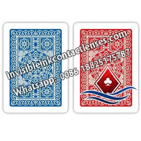 red and blue modiano no98 poker cards