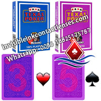 purple modiano texas holdem marking playing cards