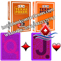 orange and brown modiano texas holdem marked cards
