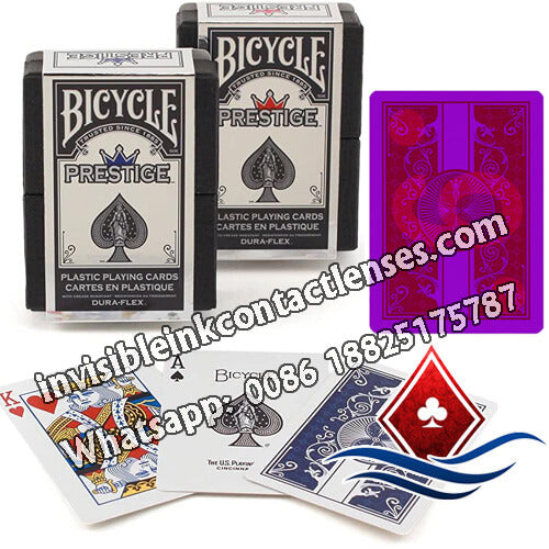 plastic bicycle infrared contact lenses marked cards
