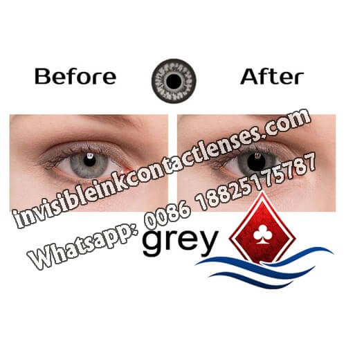 grey infrared contact lenses