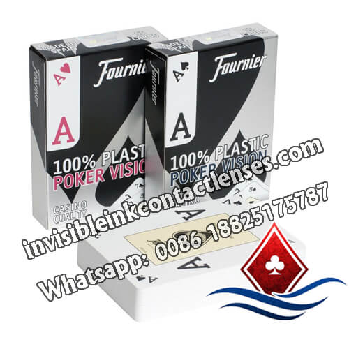 100% plastic fournier poker version luminous cards