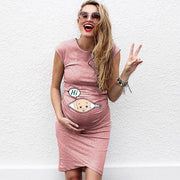 Maternity Dress Cartoon Print