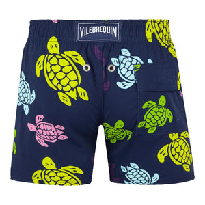 Vilebrequin Boys Tortues Multicolored Swim Short Bleu Marine