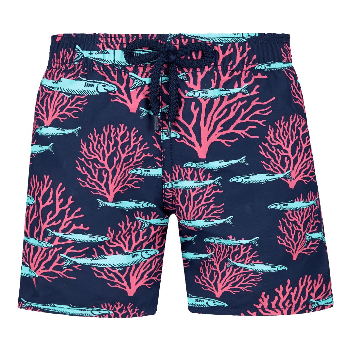 Vilebrequin Boys Coral & Fish Swim Trunk