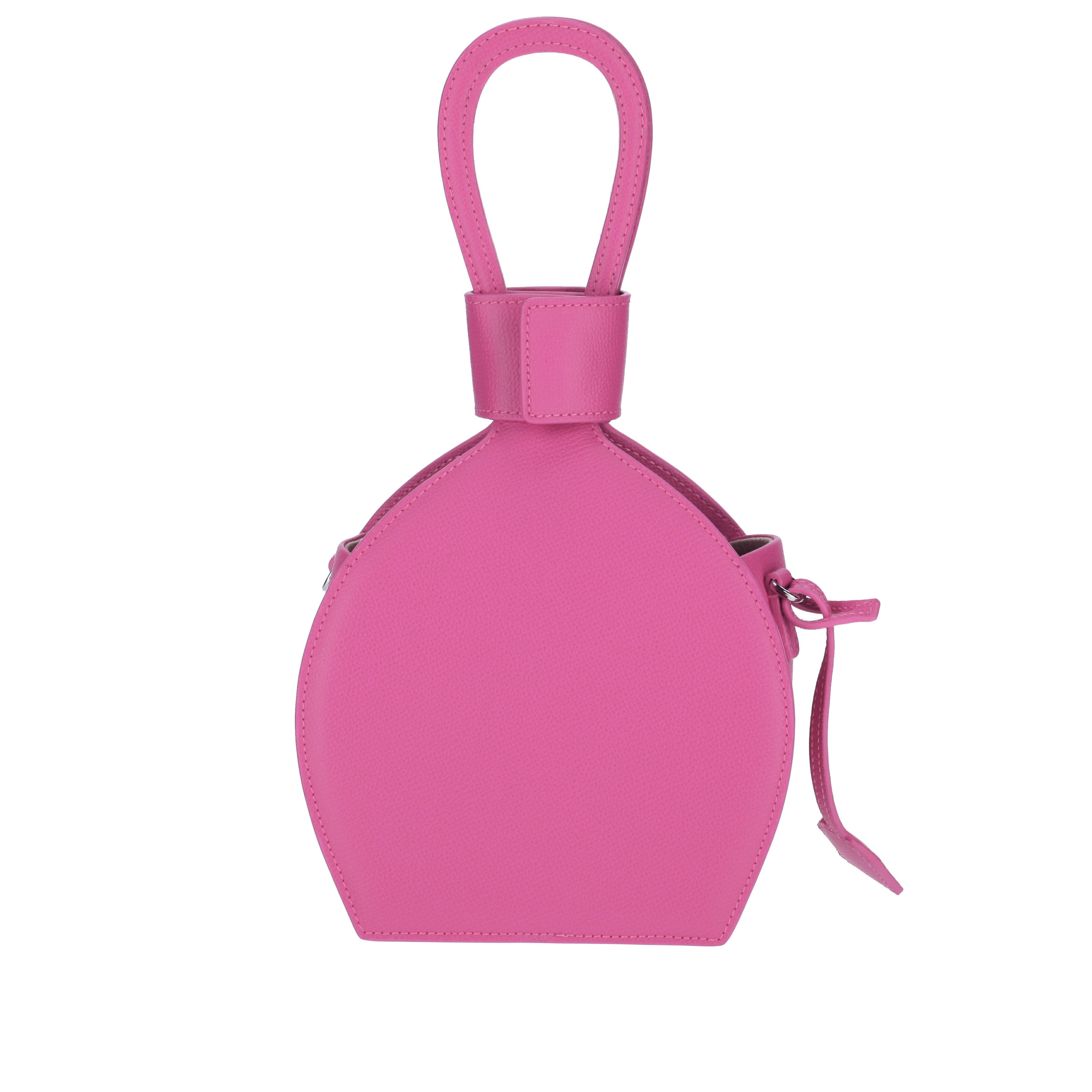 A party bag with ethical leather, ATENA PASSION PURSE-SLING BAG, a hot pink bag, hot pink purse, with minimalist look from MDLR