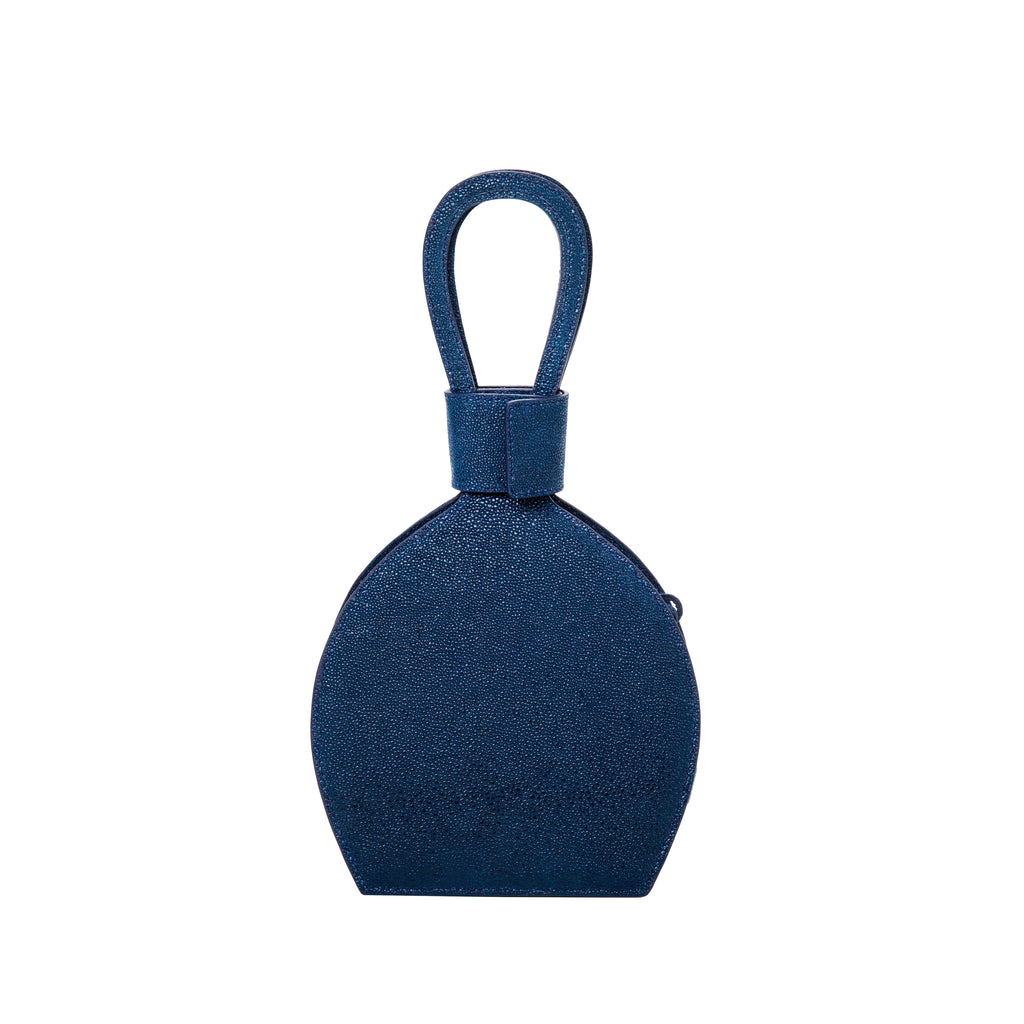 ATENA NITE PURSE-SLING BAG, a dark blue bag, handbag in denim color with minimalist look and caviar leather from MDLR