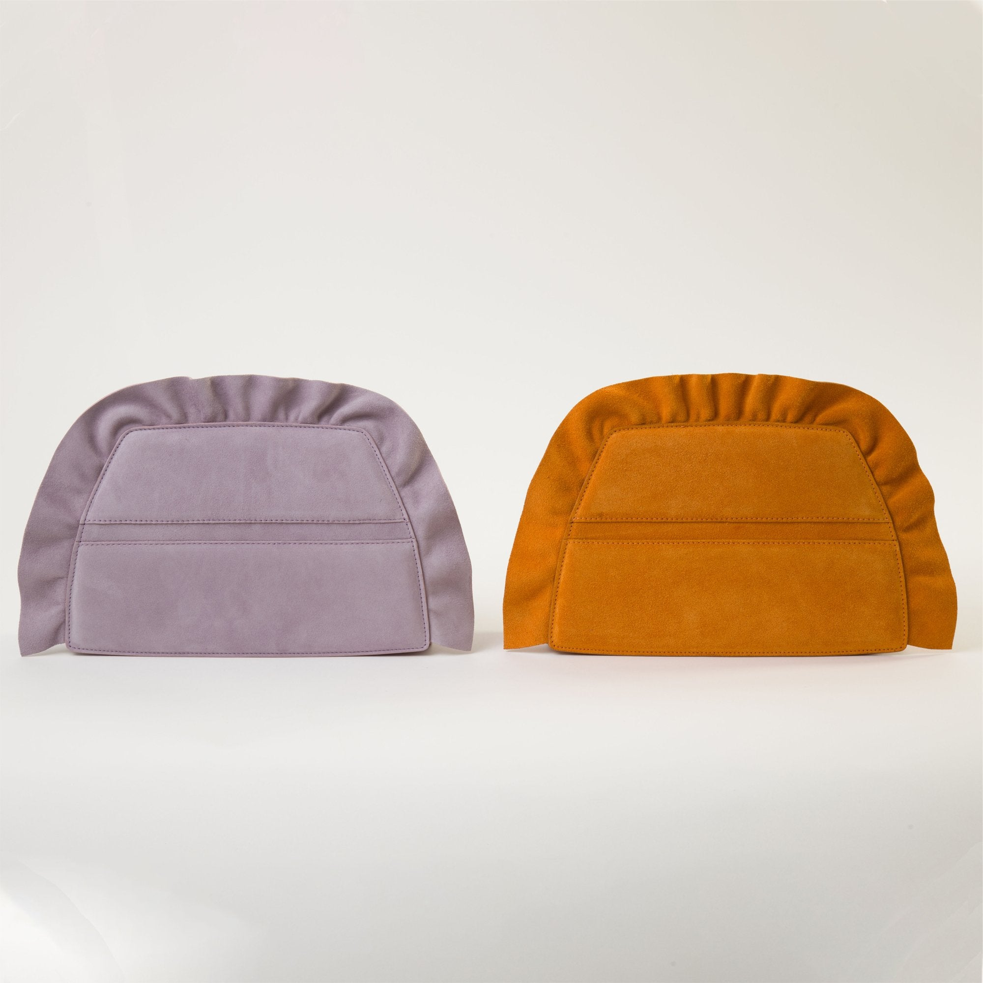 CHERUBIM SUEDE ORANGE CONVERTIBLE CLUTCH - MDLR