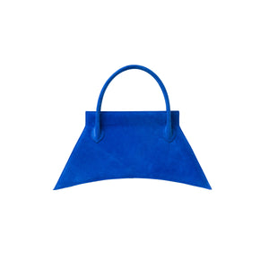 Italians suede leather with fashionable look and feel, MINI BLANKET SUEDE ELECTRIC BLUE is a mini deep blue bag, small bag with a stunning look from MDLR