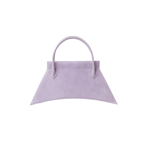 Italians suede leather with fashionable look and feel, MINI BLANKET SUEDE LILAC is a mini lilac purple bag, small bag with a stunning look from MDLR