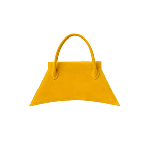 Italians suede leather with fashionable look and feel, MINI BLANKET SUEDE MARIGOLD is a mini marigold bag, small bag with a stunning look from MDLR