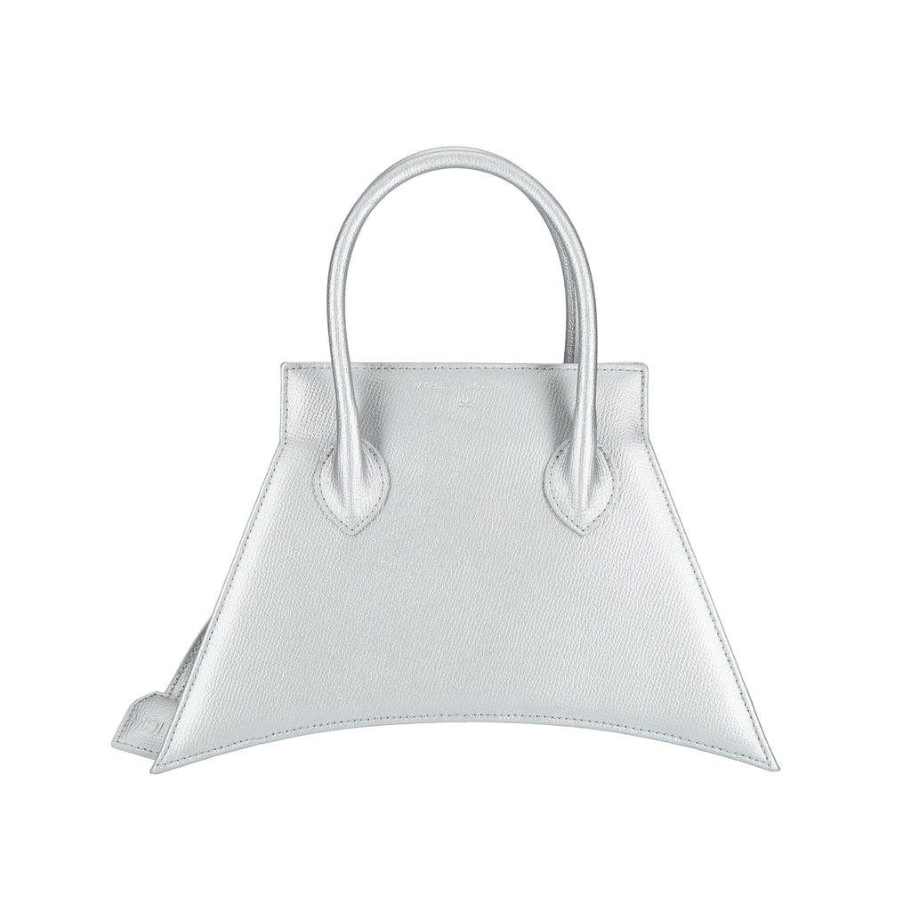 Italians material with fashionable look and feel, MICRO BLANKET SILVER is a micro silver bag, small bag with a stunning look from MDLR