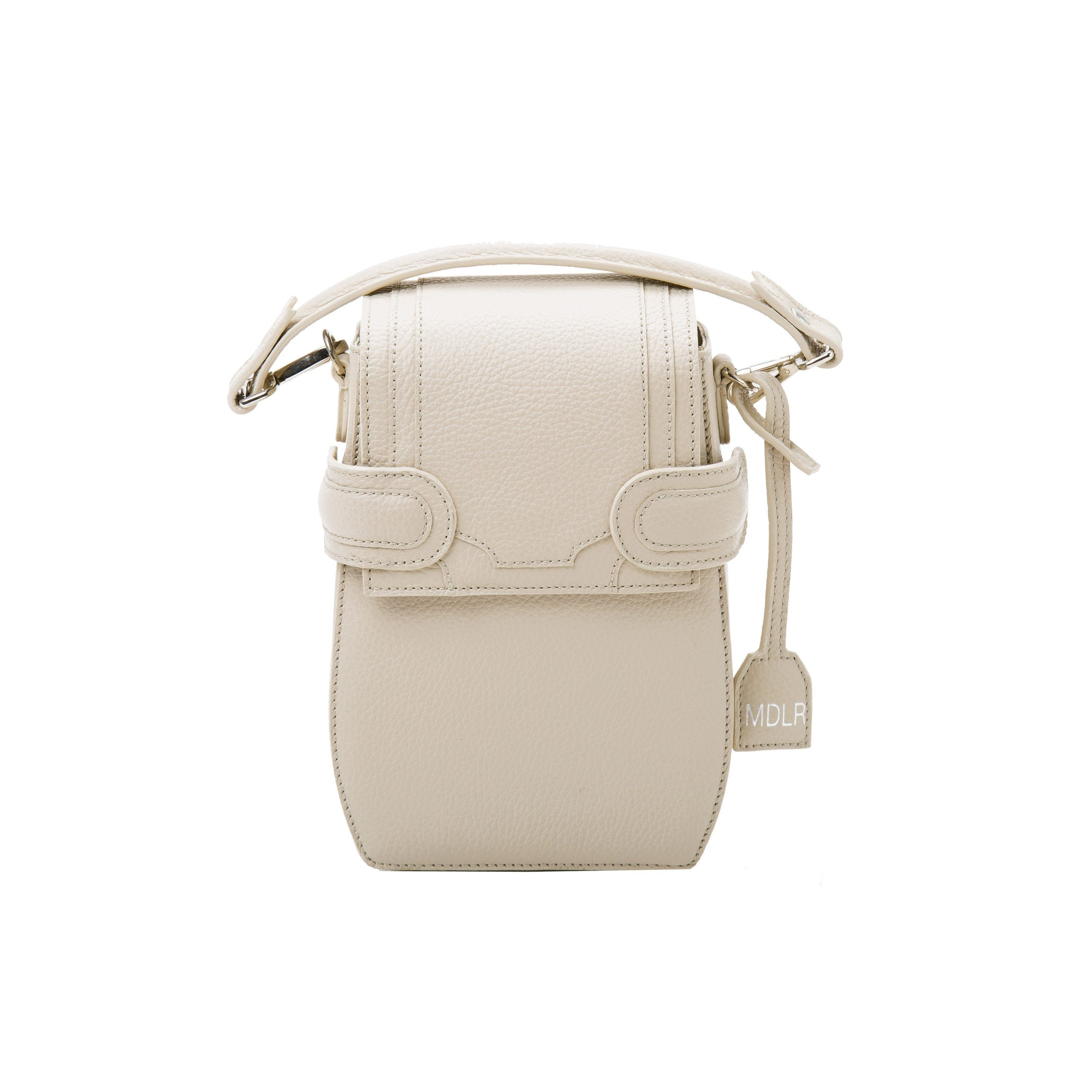 Italian materials and handcrafted in Portugal, OCTAVIO RIS 4 WAY BACKPACK is a cute cream backpack with fashionable look and feel by MDLR