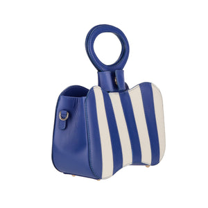 Venus blue stripes bag - bleu mix
