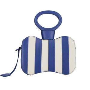 Venus blue stripes bag - bleu mix - back side
