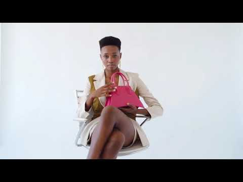 A studio video shoot with MICRO BLANKET PASSION is a micro hot pink bag, small bag with a stunning look from MDLR