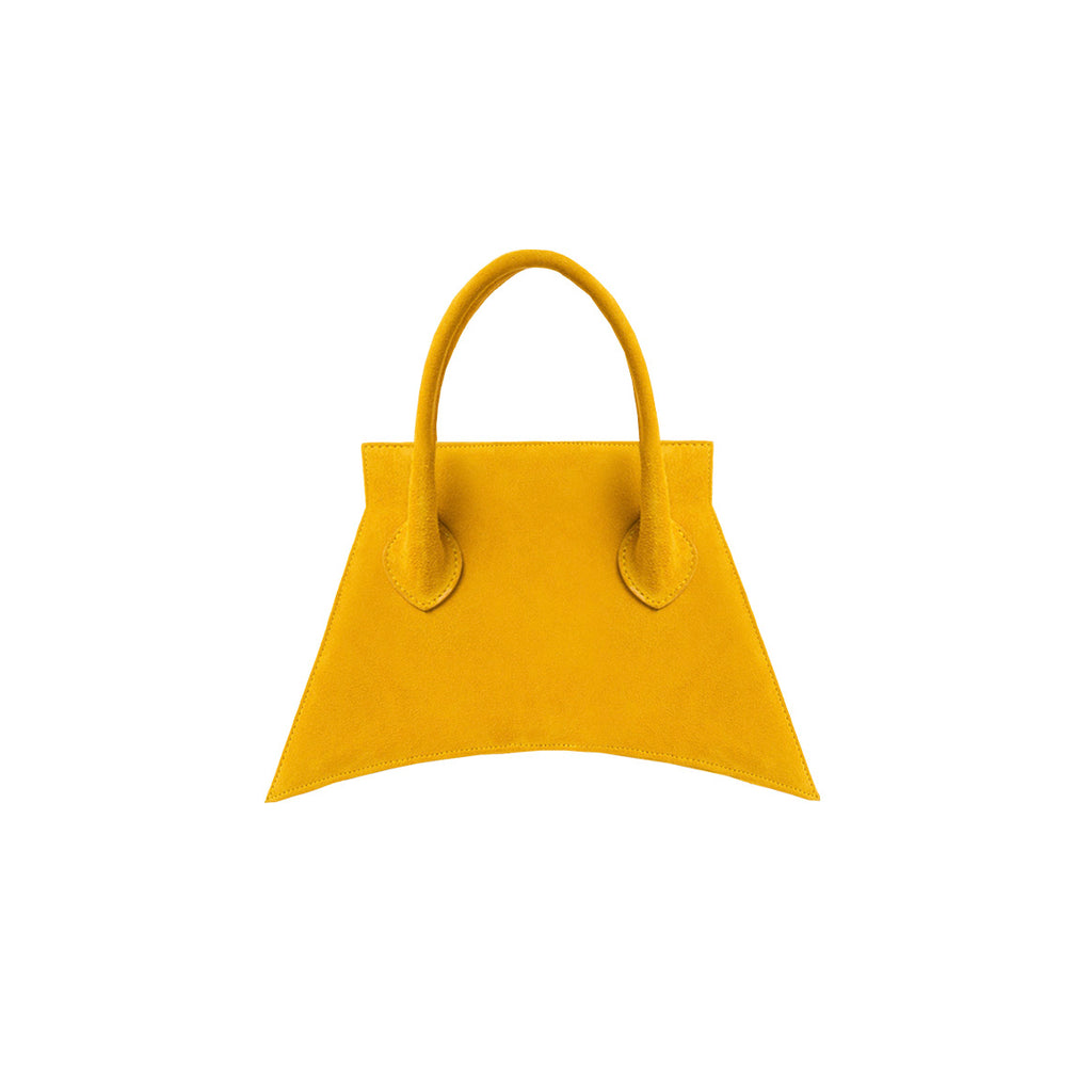 Italians suede leather with fashionable look and feel, MICRO BLANKET SUEDE MARIGOLD is a micro marigold bag, small bag with a stunning look from MDLR