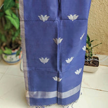 Load image into Gallery viewer, Blue Mubarakpur Dupatta