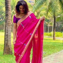 Load image into Gallery viewer, Pink Mubarakpur Silk