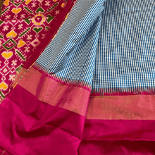 Load image into Gallery viewer, Turquoise Pochampally Silk