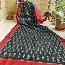 Load image into Gallery viewer, Black Ikkat Dupatta