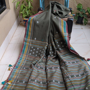 Olive green cotton Bhujodi