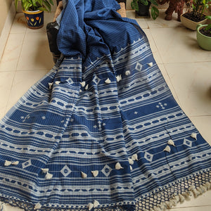 Navy blue Cotton Bhujodi