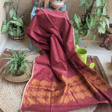 Load image into Gallery viewer, Maroon Mubarakpur Dupatta