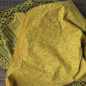 Yellow Cotton Ajrakh