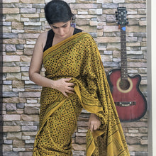 Load image into Gallery viewer, cotton Ajrakh saree