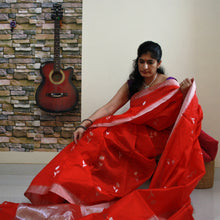 Load image into Gallery viewer, Red Chanderi Silk