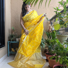 Load image into Gallery viewer, Yellow Chanderi Silk