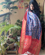 Load image into Gallery viewer, Light Blue Silk Ikkat Dupatta