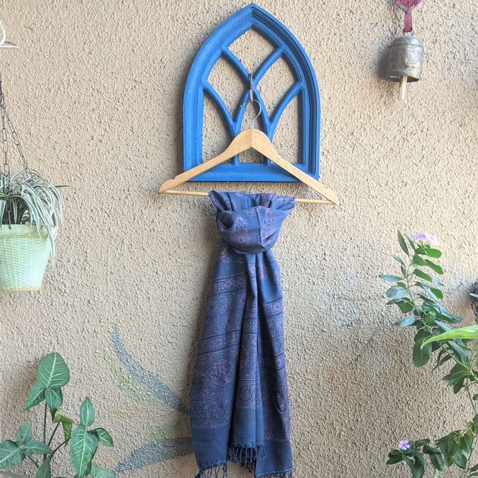 pure wool stoles handblock printed in natural dyes